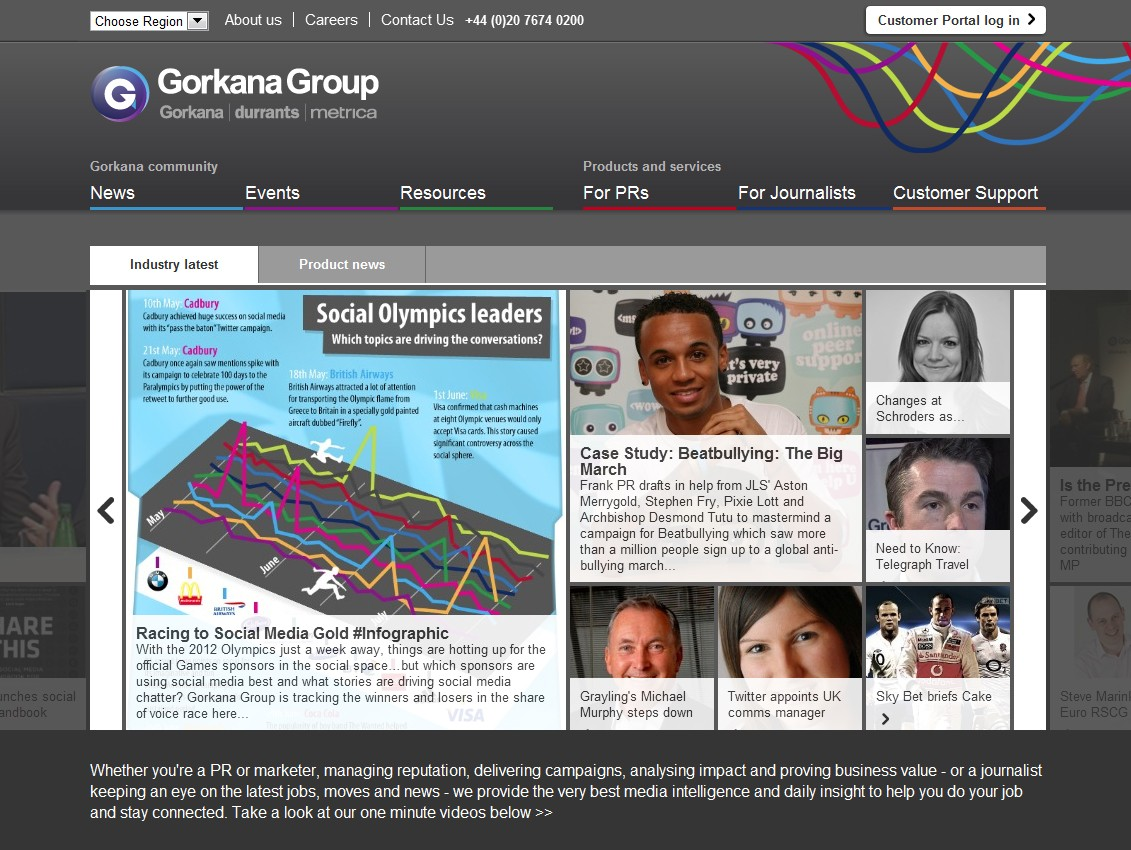 London Olympic infographic #1 for Gorkana Group