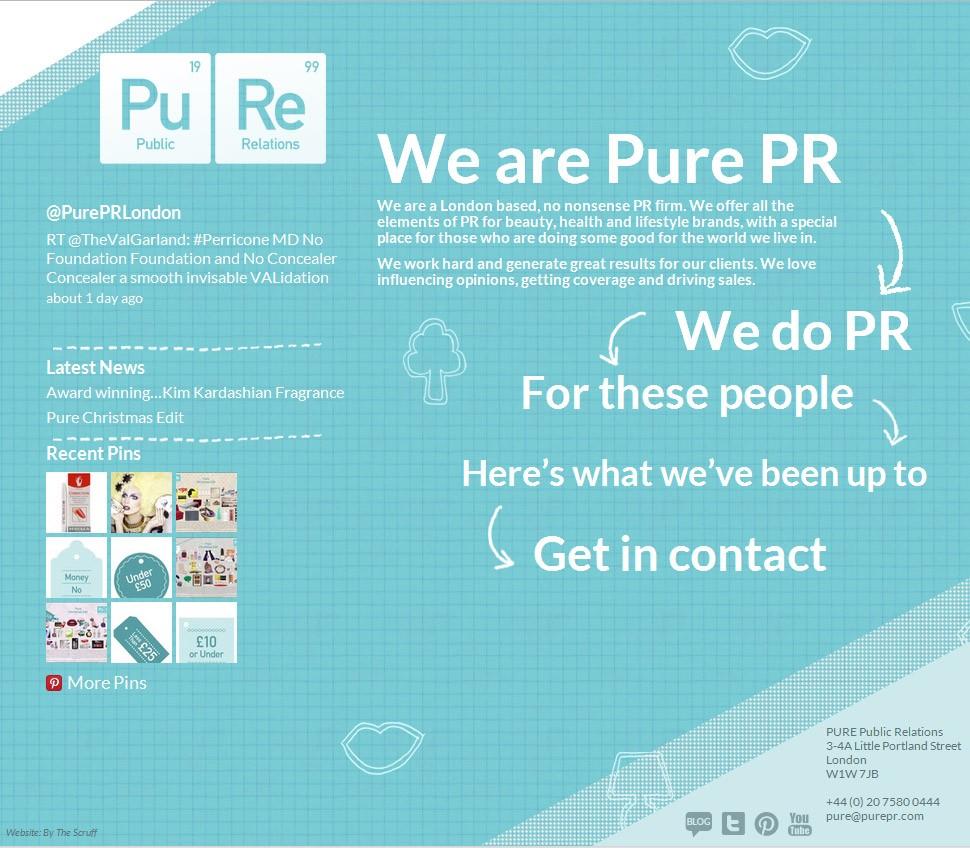 Pure PR home page