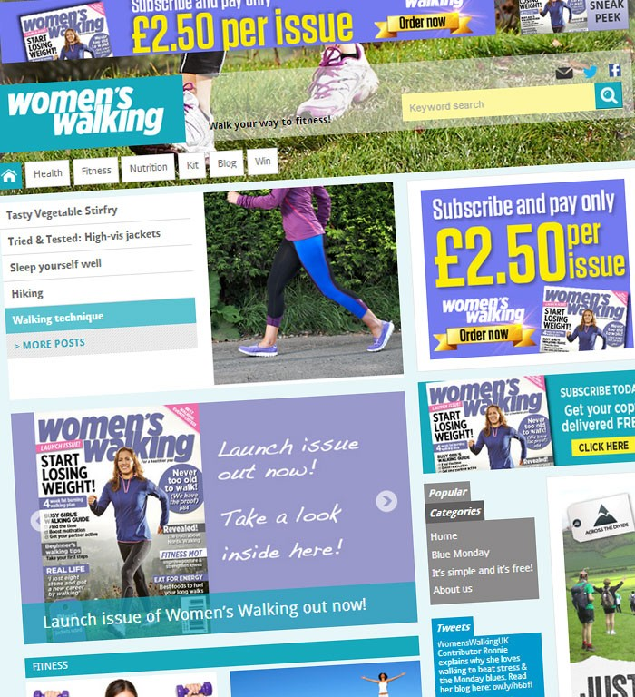 Womens Walking website launch