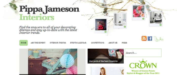 Pippa Jameson Interiors wordpress website