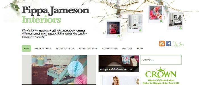 Pippa Jameson Interiors wordpress website