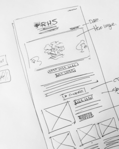 Our process rough design - UX/UI, HTML Email, WordPress, Creative