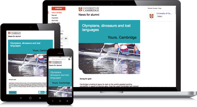University of Cambridge email template