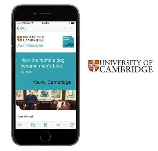 University Cambridge - UX/UI, HTML Email, WordPress, Creative