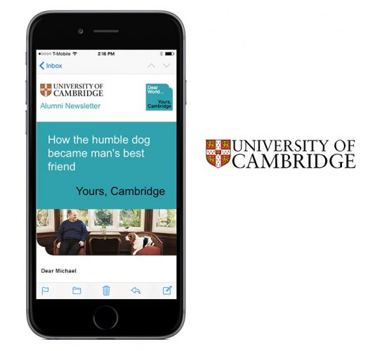 University Cambridge - UX/UI, HTML Email, WordPress, Creative