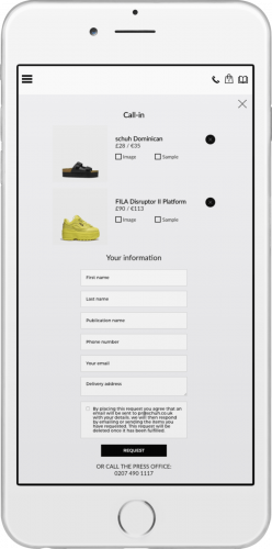 Schuh Lookbook mobile - UX/UI, HTML Email, WordPress, Creative